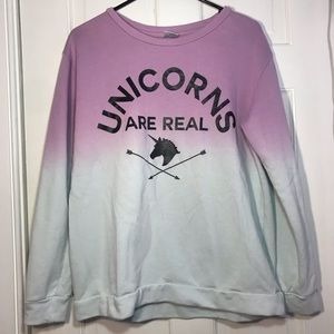 Freeze | Unicorns Are Real Ombré Long Sleeve Shirt